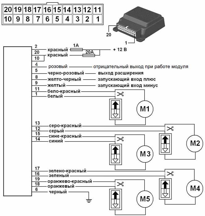 модуль стеклоподъемника
