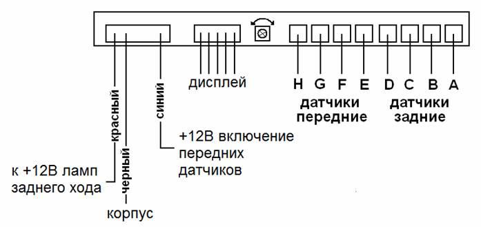 парковочный радар 8